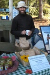 Paul telling people about the local, organic flour provided by Urban Grains
