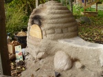 Cob bread oven, newly built this past summer!